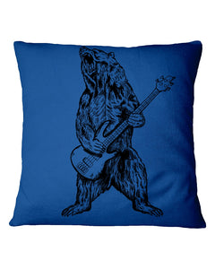 The Bear Play Guitar Funny Gift For Bass Guitar Lovers Pillow Cover
