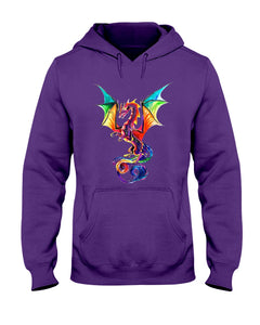 Lovely Tote Bag Colorful Dragon Birthday Gift Hoodie