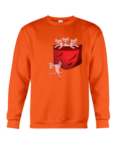 Lovely Sphynx  Pocket Gifts For Cat Lovers Sweatshirt
