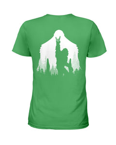 Bigfoot Rock And Roll - Backside Great Gift For Friends Who Loves Bigfoot Ladies Tee