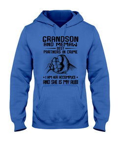 Grandson And Memaw Best Partners In Crime Gifts Hoodie