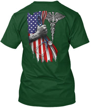 Load image into Gallery viewer, Veterinary Symbol America Flag Special Custom Design Guys Tee