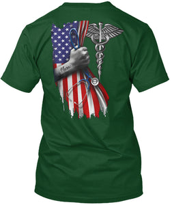 Veterinary Symbol America Flag Special Custom Design Guys Tee