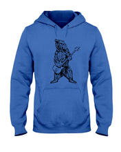 Load image into Gallery viewer, The Bear Play Guitar Funny Gift For Bass Guitar Lovers Hoodie