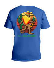 Load image into Gallery viewer, Bigfoot El Squatcho Unique Custom Design Meaningful Gifts For Bigfoot Lovers Guys V-Neck