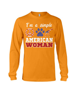 I Am A Simple American Woman Who Loves Dogs And Giraffe Custom Design Unisex Long Sleeve