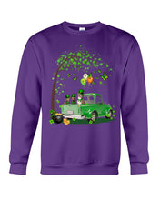 Load image into Gallery viewer, Pit Bull Shamrock Truck For St.Patrick's Day Gifts For Dog Lovers Sweatshirt