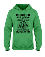 Load image into Gallery viewer, Grandson And Nonna Best Partners In Crime Custom Design Hoodie