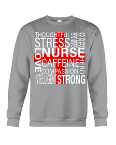 Thoughful Stress Strong Nurse Custom Design Sweatshirt