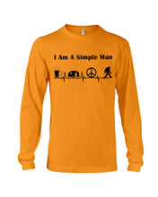 Load image into Gallery viewer, Simple Man Bigfoot Loving Camping Loving Peace Custom Design Unisex Long Sleeve