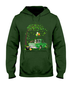 Pit Bull Shamrock Truck For St.Patrick's Day Gifts For Dog Lovers Hoodie
