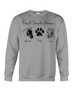 Unique I Am A Simple Woman  Gift For Cat Lovers Sweatshirt