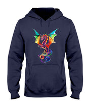 Load image into Gallery viewer, Lovely Tote Bag Colorful Dragon Birthday Gift Hoodie