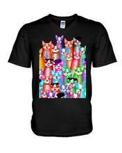 Load image into Gallery viewer, Boston Terrier Multi  Unique  Custom Design For Dog Lovers Guys V-Neck
