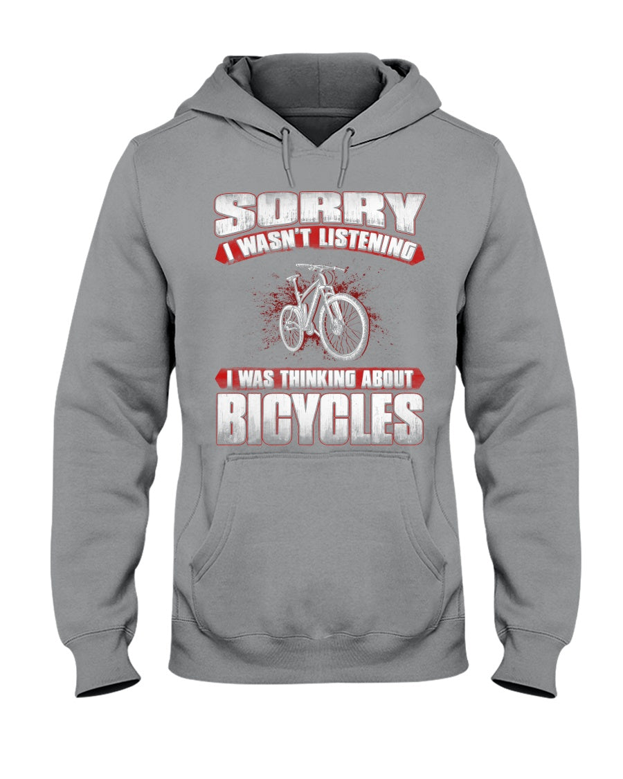 I'm Thinking About  Bicycles Custom Design Hoodie