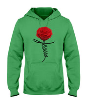 Load image into Gallery viewer, Jesus Rose Flower Special Simple Custom Design Hoodie