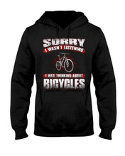 Load image into Gallery viewer, I'm Thinking About  Bicycles Custom Design Hoodie