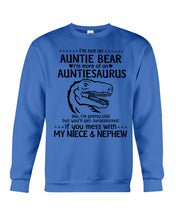 Load image into Gallery viewer, I'm Not An Auntie Bear I'm More Of A Auntiesaurus Gifts For Aunt Sweatshirt