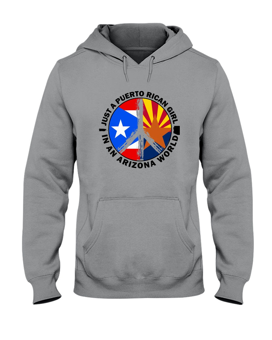 Just A Puerto Rico Girl In An Arizona   World Personalized Nation Gifts Hoodie
