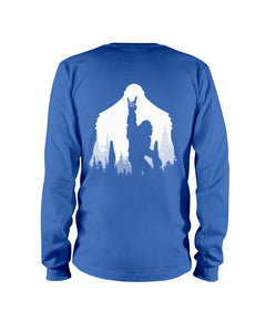 Bigfoot Rock And Roll - Backside Great Gift For Friends Who Loves Bigfoot Unisex Long Sleeve