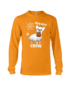 Chihuahua Boo Boo Crew Funny Design Gift For Friends Who Loves Dog Unisex Long Sleeve