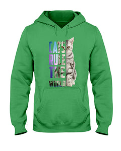 Cats Rule The World Special Cat Design Gifts For Cat Lovers Hoodie