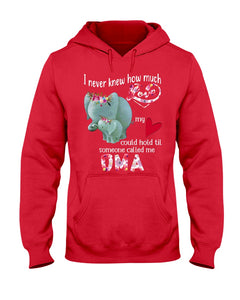 Elephants Someone Called Me Oma Funny Design Hoodie