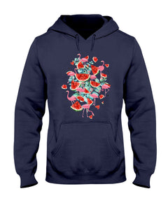 Flamingo Fruit Watermelon  Special Unique Custom Design Hoodie