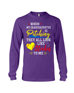 When My Granddaughter Is Pitching They All Look Like Strikes To Me Unisex Long Sleeve