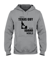 Load image into Gallery viewer, Just A Texas Guy In An Idaho  World Personalized Nation Gifts Hoodie