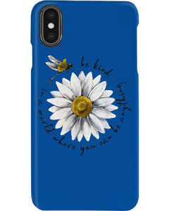 Be Kind Dragonfly Daisy Funny Dessign Gift For Mother Day Phone case