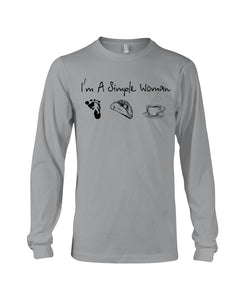 I'm A Simple Woman Custom Design Gift For Bigfoot Lovers Unisex Long Sleeve