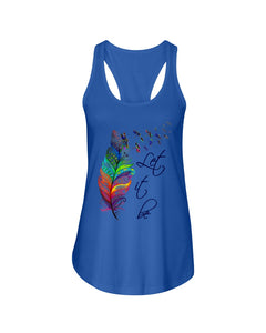Dragonfly Let It Be Colour Gifts Ladies Flowy Tank