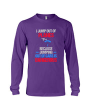 Load image into Gallery viewer, I Jump Out Of Planes Gift For Skydiving Lovers Unisex Long Sleeve