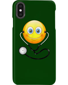 Cute Smiling Nurse Emoji Face Wearing Stethoscope Great Gift For Doctor's Day Phone case