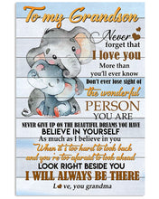 Load image into Gallery viewer, I Will Always Be There For You Gift For Grandson From Grandma Vertical Poster