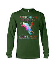 Load image into Gallery viewer, Assuming I'm Just An Old Lady Gift For Snowmobile Lovers Unisex Long Sleeve