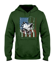 Load image into Gallery viewer, Fishing American Flag Vintage Special Unique Custom Design Hoodie