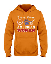 Load image into Gallery viewer, I Am A Simple American Woman Who Loves Dogs And Giraffe Custom Design Hoodie