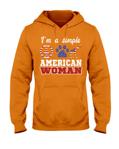 I Am A Simple American Woman Who Loves Dogs And Giraffe Custom Design Hoodie