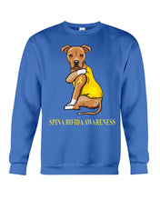 Load image into Gallery viewer, Spina Bifida Awareness Gift For Dog Lovers Custom Design Sweatshirt