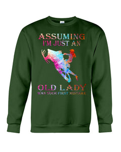 Assuming I'm Just An Old Lady Gift For Snowmobile Lovers Sweatshirt