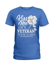 Load image into Gallery viewer, Kiss Me I'm A Veteran Clover Gifts Ladies Tee