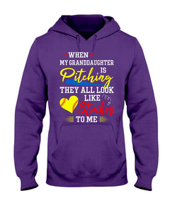 When My Granddaughter Is Pitching They All Look Like Strikes To Me Hoodie