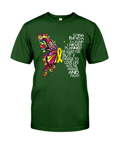 Spina Bifida Is A Journey I Never Planned Or Asked For But I Choose To Love Life Guys Tee