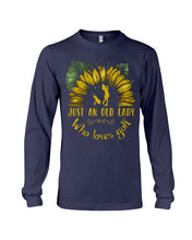 Load image into Gallery viewer, Sunflower Just An Old Lady Who Loves Golf Custom Design For Sport Lovers Unisex Long Sleeve