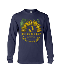 Sunflower Just An Old Lady Who Loves Golf Custom Design For Sport Lovers Unisex Long Sleeve