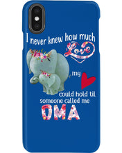Load image into Gallery viewer, Elephants Someone Called Me Oma Funny Design Phone case