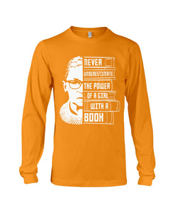 Never Underestimate A Power Girl With A Book Custom Design Unisex Long Sleeve
