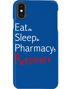 Eat Sleep Pharmacy Repeat Simple Unique Custom Design Phone case